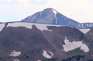 Mount Richthofen - Mount Richthofen viewed from Rocky Mountain National Park