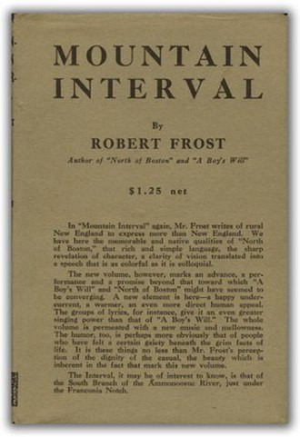 Mountain Interval - First edition (publ. Henry Holt)