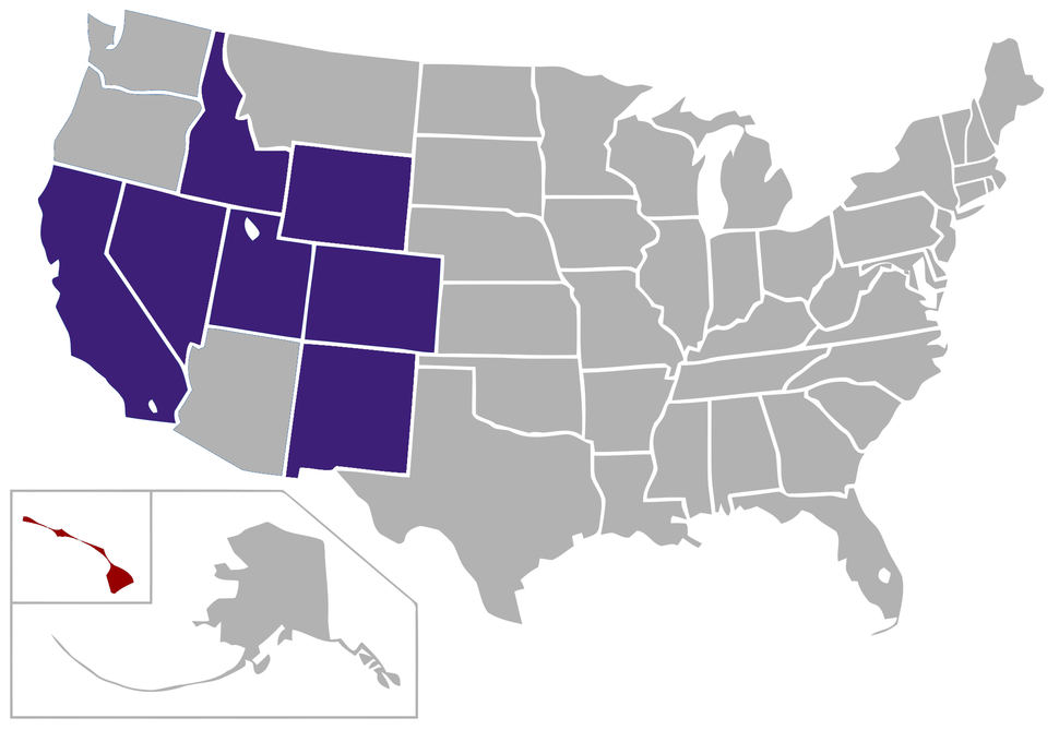 Mountain West Conference locations