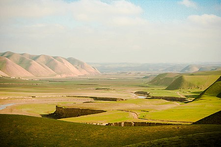 Mountains and River in Faryab province.jpg