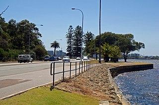 Mounts Bay Road Road in Perth, Western Australia