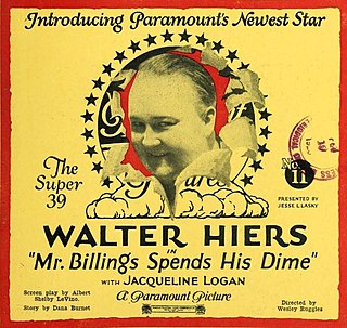 <i>Mr. Billings Spends His Dime</i> 1923 American comedy silent film