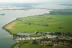 Aerial view of Muiden and Muiderslot