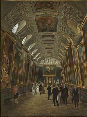 Musée du Luxembourg - The Luxembourg Museum in the east wing of the Palace, c. 1848