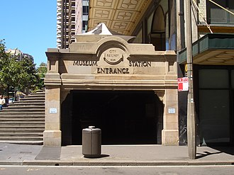 Downing Centre - Image: Museum Station entrance 1