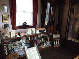 Draper - A replica draper's shop at the Museum of Lincolnshire Life, Lincoln, England