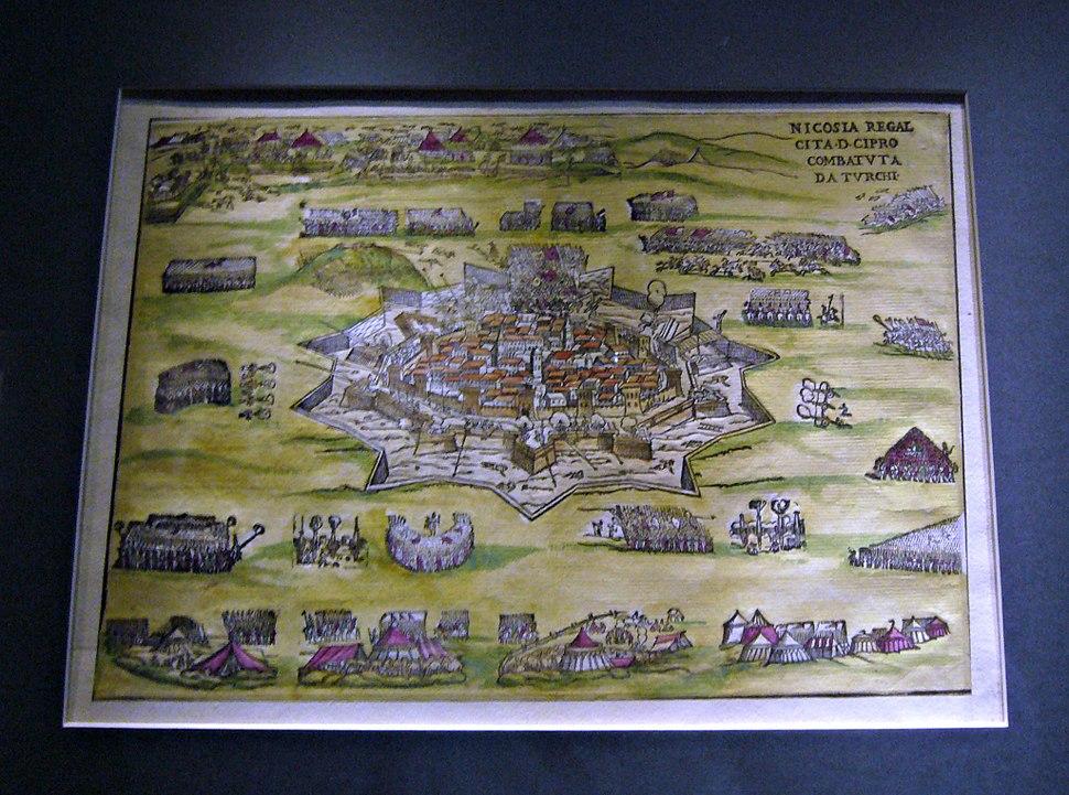 Muzei Leventis-Map of Nicosia, 1570