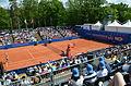 Nürnberger Versicherungscup 2014 - Centercourt des 1.FCN Tennis am Valznerweiher von Nord-Westen 03.JPG