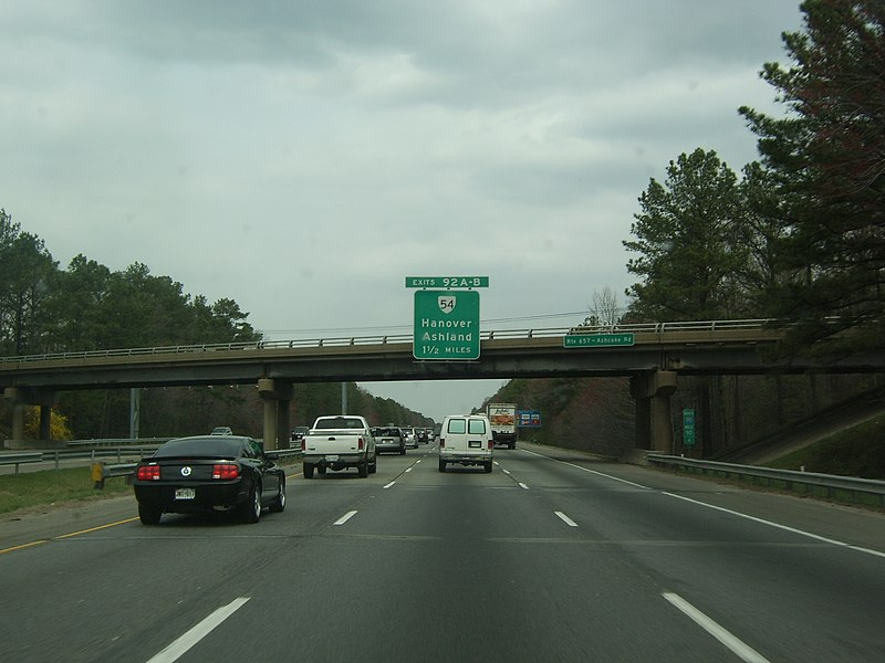File:NB I-95; One-and-...I 95 Exit 92