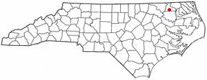 Ahoskie, North Carolina - Image: NC Map doton Ahoskie