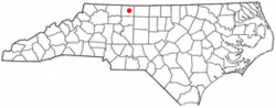 Location of Danbury, North Carolina
