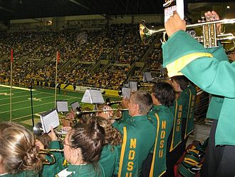 Fargodome - The NDSU band plays in the stands