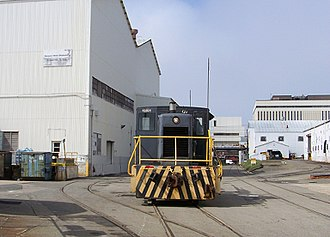 Newport News Shipbuilding - The shipyard's railroad system
