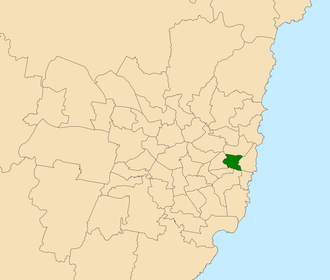 Electoral district of Sydney - Location within Sydney