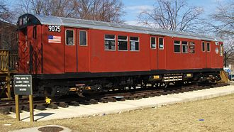 New York City Subway rolling stock - A R33 Redbird car