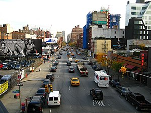 10th Avenue, NYC arterial road.