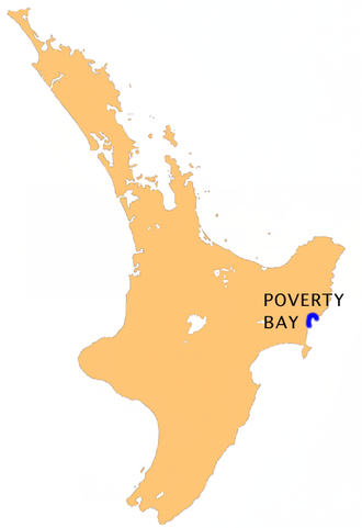 Poverty Bay - Location of Poverty Bay