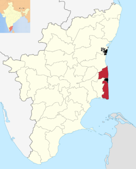 Localisation de District de Nagapattinam