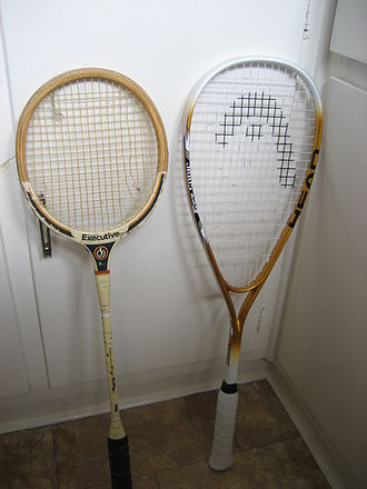 Squash (sport) - Old and new style squash rackets