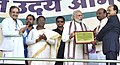 Narendra Modi conferring the Annual Devolution Index, PESA and e-Panchayati Awards, at the Panchayati Raj Sammelan marking Panchayati Raj Day and concluding session of Gram Uday se Bharat Uday programme, in Jamshedpur (3).jpg