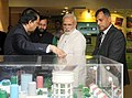 Narendra Modi visiting the exhibition at the inauguration ceremony of the Conference of State Environment & Forest Ministers, in New Delhi. The Minister of State for Environment (1).jpg