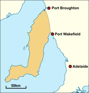 Narungga - Historical extent of traditional Narungga territory.