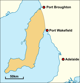 Narungga - Historical extent of traditional Narungga territory.