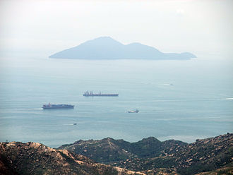 Battle of Tunmen - Looking towards Lintin Island from Castle Peak, Tuen Mun