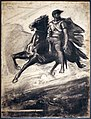 Nicolas-françois chifflart, uomo che cavalca attraverso l'aria, 1860-70 ca.jpg