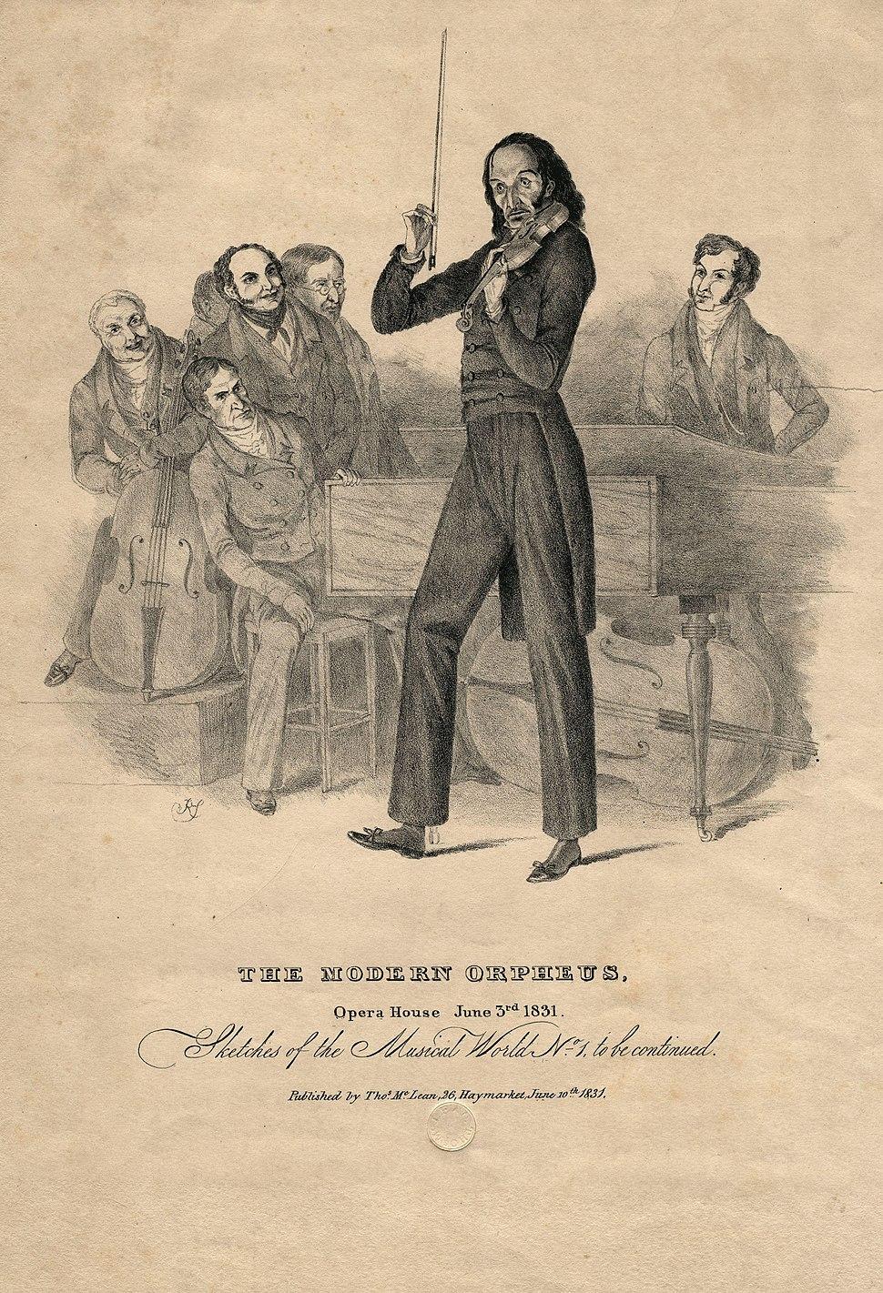 Nicolo Paganini by Richard James Lane