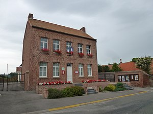 Nielles-lès-Ardres - The town hall of Nielles-lès-Ardres