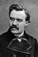 A photograph of German philosopher Friedrich Nietzsche, taken circa 1869