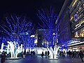 Night view in front of Hakata Station 20180102-3.jpg