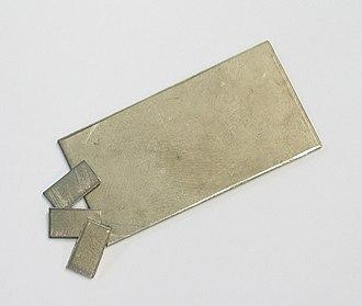 Niobium - A niobium foil