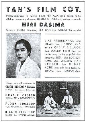 Tan's Film - Poster for Njai Dasima, Tan's first production