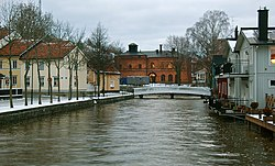 The Norrtälje River running across Norrtälje