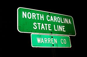 Warren County, North Carolina - Entering Warren County from Virginia
