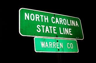 Warren County, North Carolina - Entering Warren County from Virginia