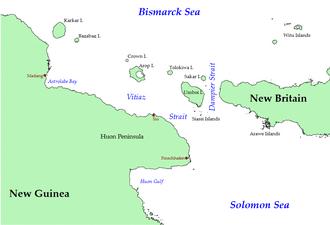 Vitiaz Strait - Northeastern New Guinea and Bismarck Archipelago (some smaller islands omitted)