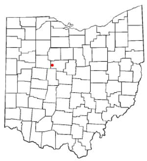 LaRue, Ohio - Image: OH Map doton La Rue