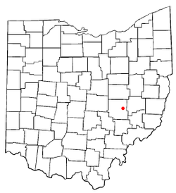 Location of Norwich, Ohio