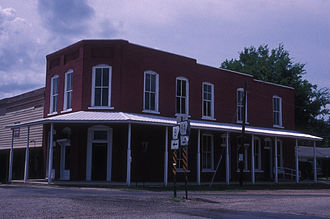 Amity, Arkansas - The Old Bank of Amity on the main square is listed on the National Register of Historic Places.