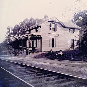 Oakbourne station - Image: Oakbournestation 1907