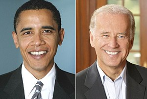English: Barack Obama and Joe Biden