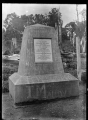 Obelisk to mark the position of the last spike driven on the North Island Main Trunk Line, at Manganui a te Ao, in November 1908. ATLIB 288494.png