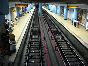 Obor metro station - Inside the Obor metro station
