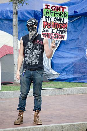 Occupy Boston - Image: Occupy Boston can't afford