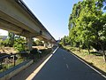 Ohlone Greenway and R-Line viaduct (2), July 2020.JPG