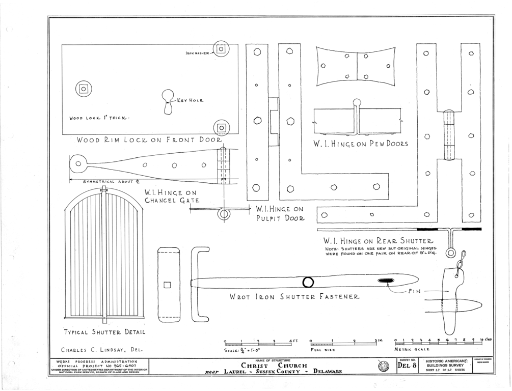 File:Old Christ Church, State Roads 465 and 465-A, Laurel, Sussex County, DE HABS DEL,3-LAU.V,1- (sheet 12 of 12).png
