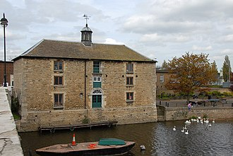 Customs House (1790) on the north bank of the river, from the Town Bridge Old Customs House, Peterborough - geograph.org.uk - 166965.jpg